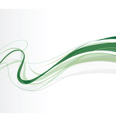 Swirling lines green vector