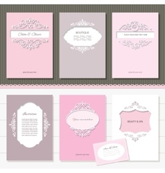 Templates set Brochures cards banners vector image vector image