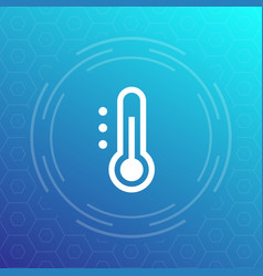 thermometer icon sign vector image