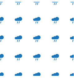 thunderstorm icon pattern seamless white vector image