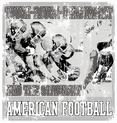 tough rough american football crack vector image vector image