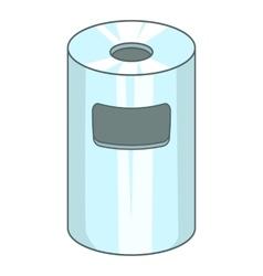 Trash can icon cartoon style vector