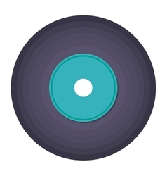 vinyl music isolated icon design vector image