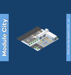 winter isometric airport vector image