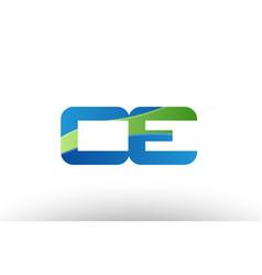 Blue green ce c e alphabet letter logo vector
