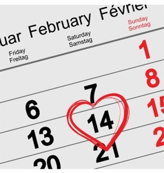 February 14 Valentines Day vector image