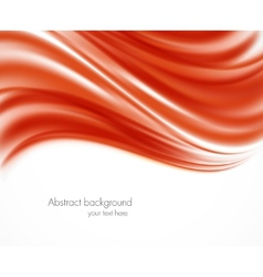 Abstract red wavy backround vector image