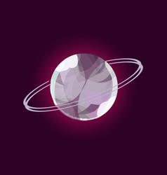 fantasy planet logo vector image