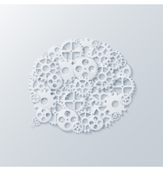 modern concept bubble speech and gears vector image