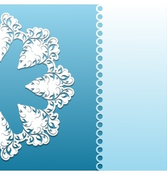 Paper pattern with lace ornament vector image