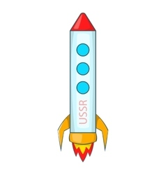 Rocket icon cartoon style vector image