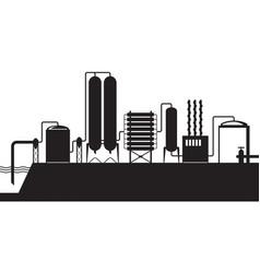 Seawater desalination plant vector