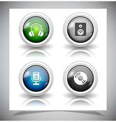 Buttons for web vector image vector image