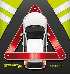 Car and Breakdown Triangle vector image vector image