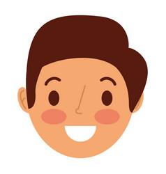face smiling man adult cartoon character vector image