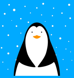 funny cute penguin vector image vector image