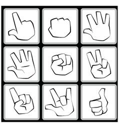 hand set vector image vector image