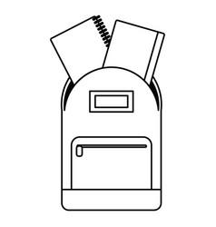 school bag book notebook thin line vector image vector image