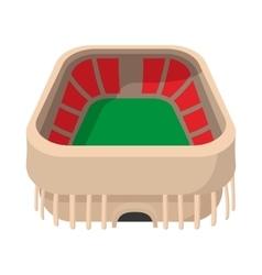Sports stadium cartoon icon vector
