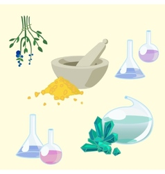 Chemists tools set vector image vector image