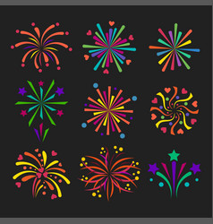 firework icon isolated vector image vector image