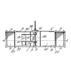 Hydraulic motor vintage vector