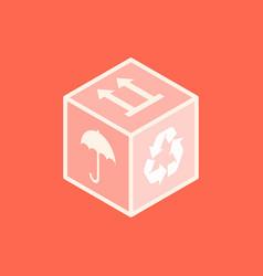 isometric box icon vector image