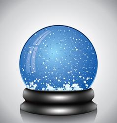 snow globe vector image vector image