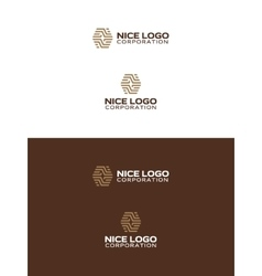 abstract parquet logo vector image