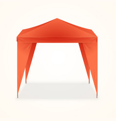 Advertising outdoor event folding promotional tent vector