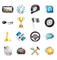 auto racing elements set vector image