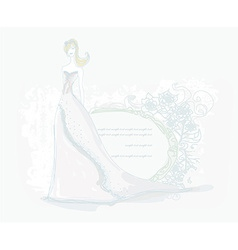 Beautiful bride card vector