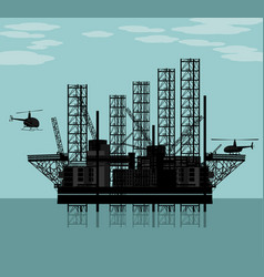 Big oil platform vector