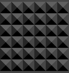 black polygonal abstract seamless pattern vector image