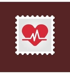 Blood pressure medical stamp vector
