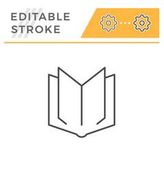 book editable stroke line icon vector image