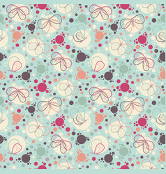 bright colorful butterflies seamless pattern vector image