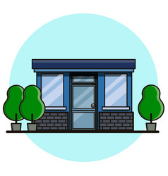 Cafe building flat style vector