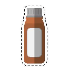 Cartoon bottle medicine healhy care icon vector