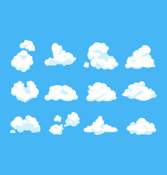 cartoon clouds blue sky panorama heaven vector image
