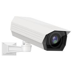 Cctv security camera white surveillance equipment vector