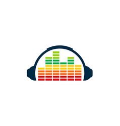 Chart music logo icon design vector