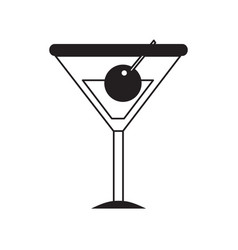 cocktail drink icon vector image