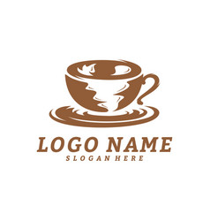 coffee logo design template coffee label badge vector image