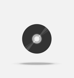compact disc cd flat icon with shadow vector image