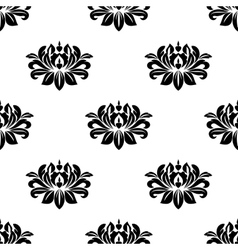 Dainty floral damask style fabric pattern vector