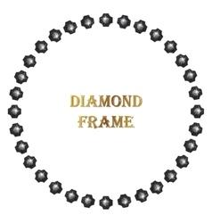 Diamond round frame vector image