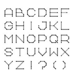 digital english alphabet minimalistic dotted font vector image