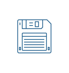 diskette line icon concept diskette flat vector image