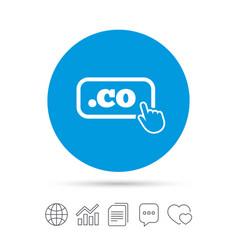Domain co sign icon top-level internet domain vector